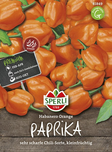 SPERLI Paprika 'Habanero Orange'