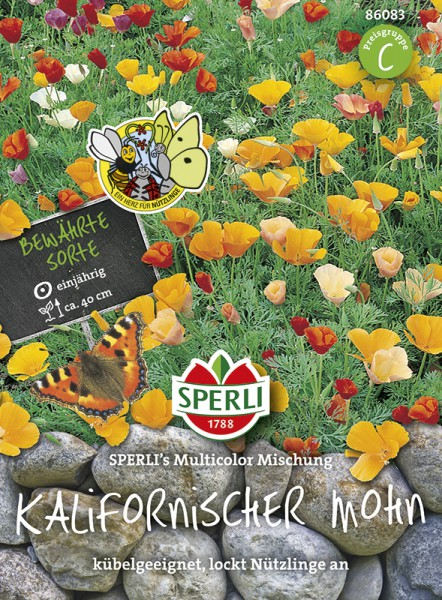 SPERLI Goldmohn / Kalifornischer Mohn 'SPERLI´s Multicolor Mischung'