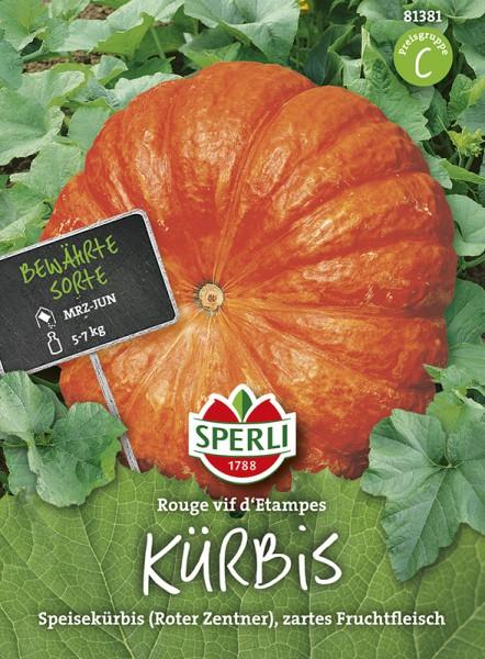 """SPERLI Kürbis 'Rouge vif d'Etampes' (""""Roter Zentner"""")"""