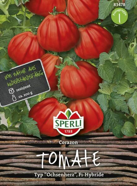 SPERLI Tomate (Fleisch-Tomate / Ochsenherz) 'Corazon' F1