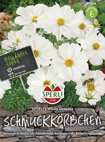 SPERLI Schmuckkörbchen / Kosmee 'SPERLI's White Dreams'