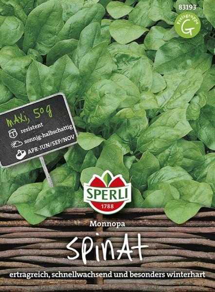 SPERLI Spinat 'Monnopa' - Maxi-Pack 50g
