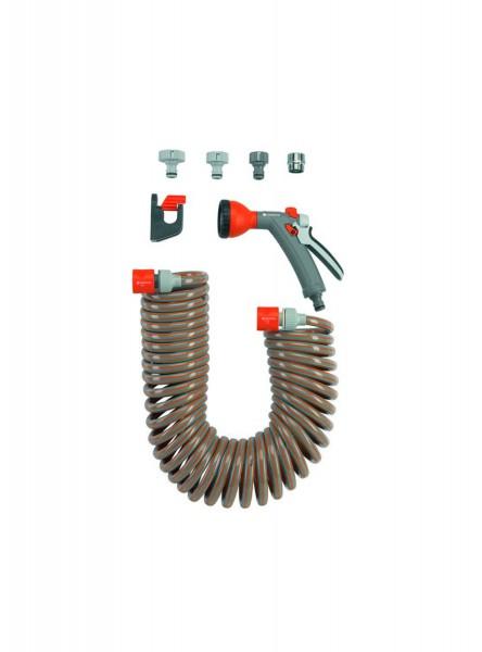 Gardena Spiralschlauch-Set, 10 m, mit Impulsbrause und Systemteilen