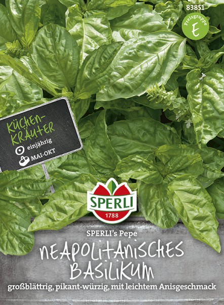 SPERLI Neapolitanisches Basilikum 'Sperli´s Pepe'