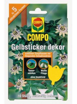 COMPO Bio Gelbsticker dekor - 10Stk