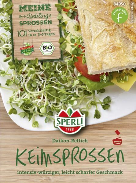 SPERLI Keimsprossen Daikon-Rettich - Bio-Saatgut