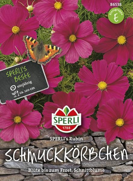 SPERLI Schmuckkörbchen / Kosmee 'SPERLI's Rubin'