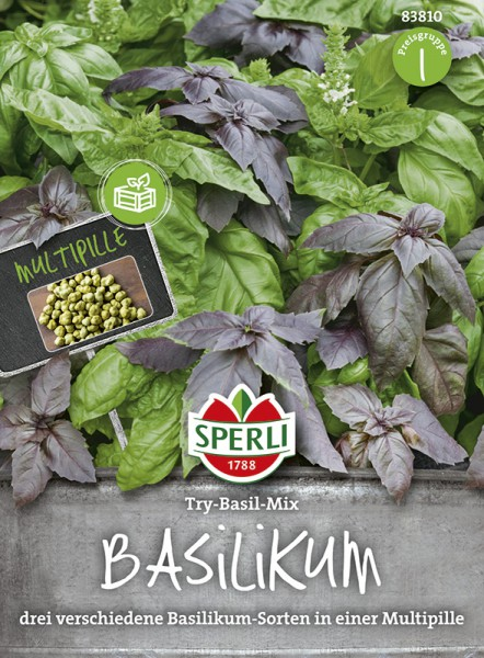 SPERLI Basilikum Simply Herbs Try-Basil-Mix einjährig