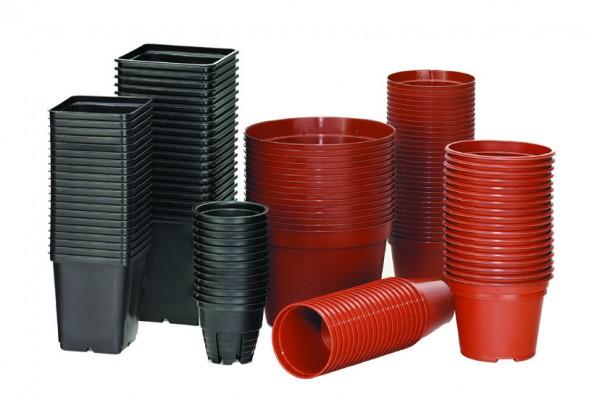 18 Kunststofftöpfe, terracotta