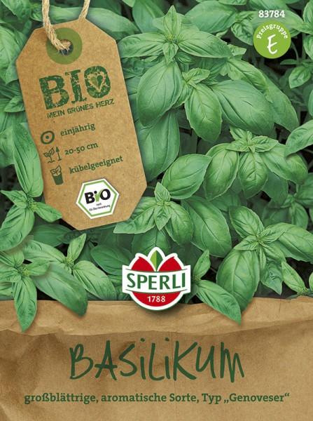 SPERLI Bio-Basilikum 'Großes Grünes Genoveser – Bio-Saatgut'